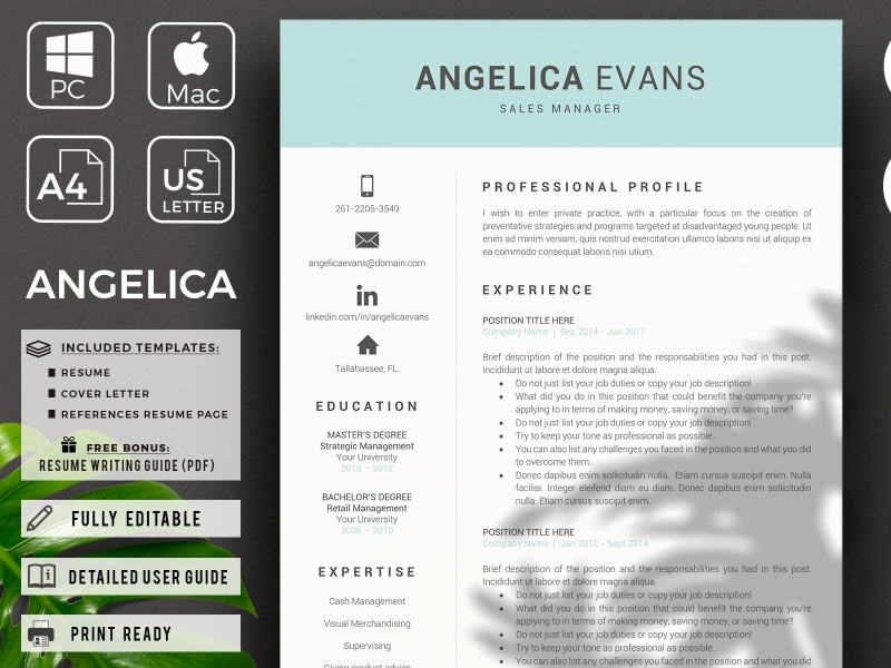 Retail Resume Sales and Cover letter by Resume Templates on ...