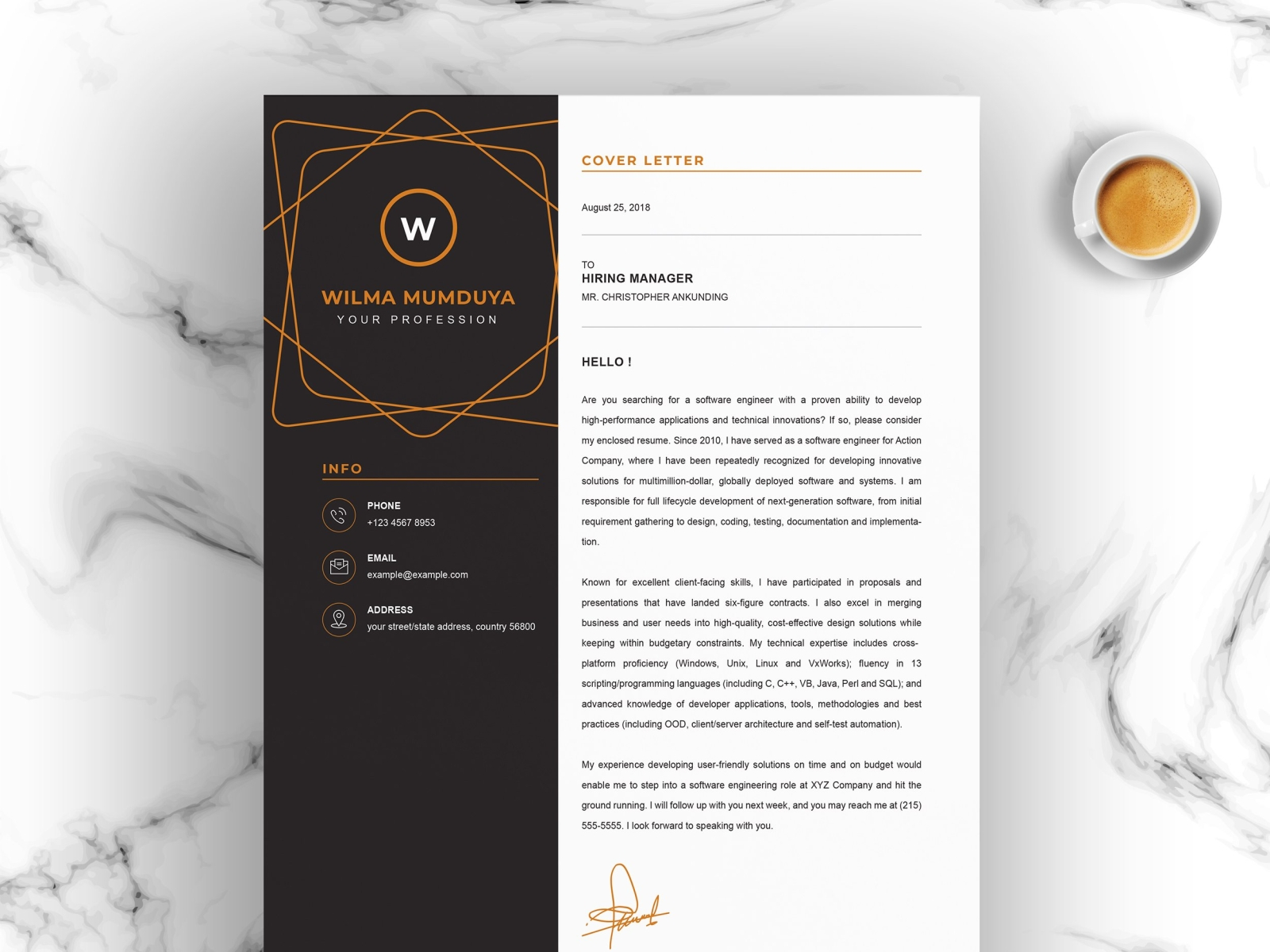 Creative resume template for Word by Resume Templates on ...