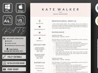 Sales Resume + Cover Letter format