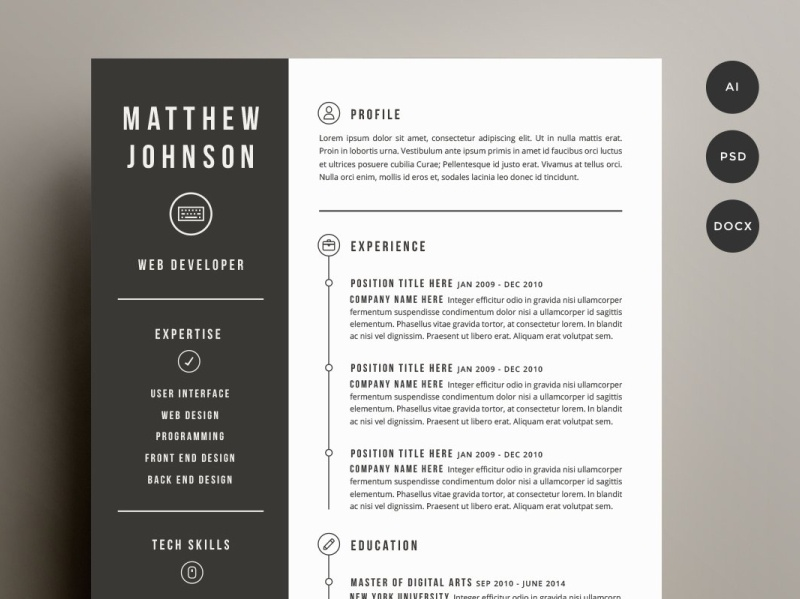 Resume Cover Letter Template By Resume Templates On Dribbble