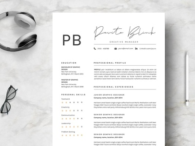 Resume Template Professional &V