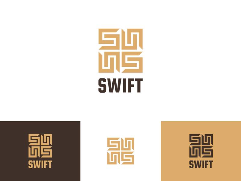 Swift gold logo golden ratio logodesign accounting financial symbol square s logo icon identity branding logo vector ui identity design brand design branding