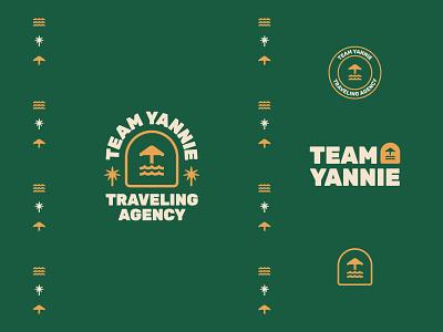 Team yannie logo lockups pattern icon hotel logo sea logo vintage logo logomark travel agency brand typography stamp badgedesign badge logo palmtree tree vector logo identity branding dailylogochallange identity design branding