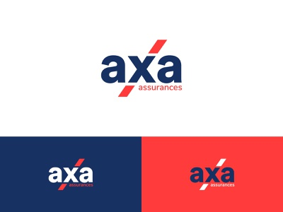 AXA assurances Logo Redesign logomark logotype brand design logoprocess identitydesign redesign concept assurance rebrand rebranding redesign blue icon identity branding identity design vector dailylogochallange design brand branding logo