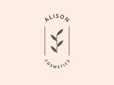 Alison Cosmetics thirtylogos thirtylogoschallenge cosmetic logo floral cosmetics cosmetic branding design logo
