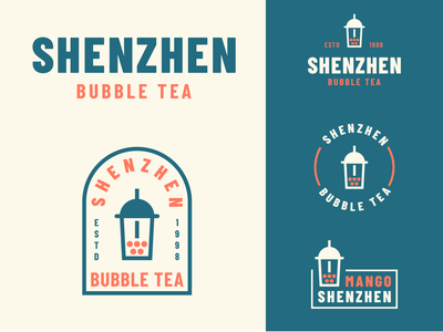 Shenzhen Bubble Tea retro badge vintage vintage badge vintage logo logotype logo design identity identity designer identity branding bubble bubble tea typography brand logo thirtylogoschallenge identity design logocore thirtylogos design branding