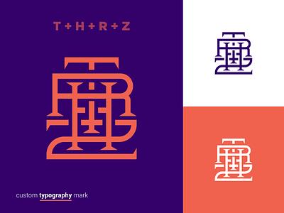 THRZ Custom Mark minimal typo identity branding streetwear t logo logotype customtype calligraphy fashion brand clothing brand lettering lettermark custom lettering type character typography vector brand branding logo