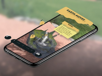 AR app for the Museum of Life and Sciences mobile nature waterfall rocks viget design app museum ar