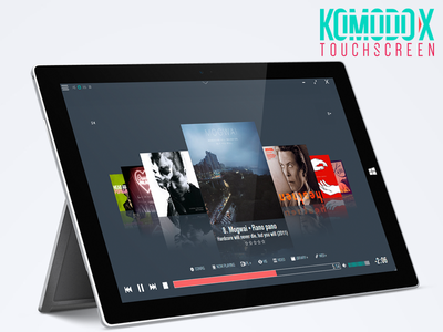 Komodo X Touchscreen tablet surface pro minimalistic media player victhor skin winamp touschscreen komodo