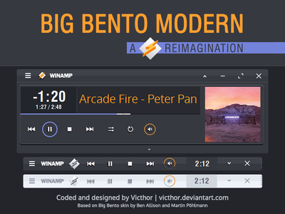 Big Bento Modern classic pro cpro victhor winamp skin skins skinning winamp