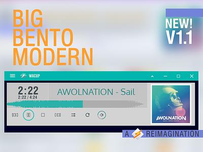 Big Bento Modern v1.1 argentina design skinning victhor skin winamp