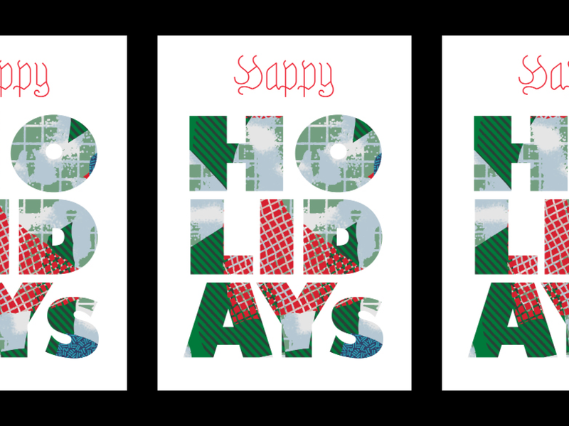 Happy Holidays collage pattern poster christmas holidays happy