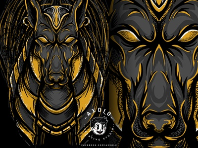 ANUBIS mythology vectorart identity animal icon egypt character design egyptian god death anubis design branding vector character illustration branding design