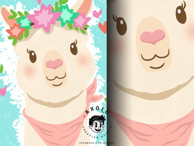 LLAMA kawaii friendly fluffy pastel colorful love lovely adorable cute farm animals llama feminine vector design character illustration