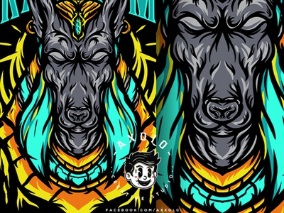 CURATOR V2 egyptian keeper die god dog curator death anubis character design design icon clothing brand branding character vector branding design illustration