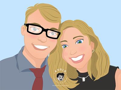 DISNEY STYLE COUPLE cartoons disney art couple cartooning caricature disney vector illustration