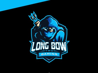 LONG BOW TWO GAMING japanese culture logo design games logo branding design ninja bow archer esport esport logo games streaming streamer character design character icon branding logo design illustration game
