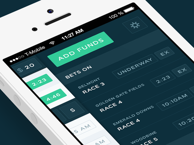 Bet faster than ever. iphone ui flat dark clean ios web app mobile