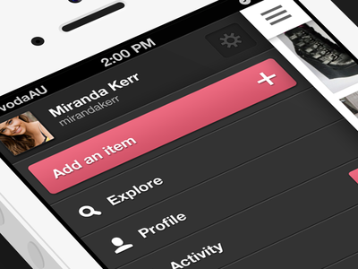 Just launched! Check it out. ui iphone app fashion dark sidebar australia
