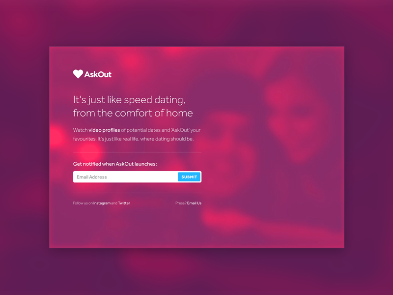 Video Background video blur background ux love heart dating ios iphone ui app html5