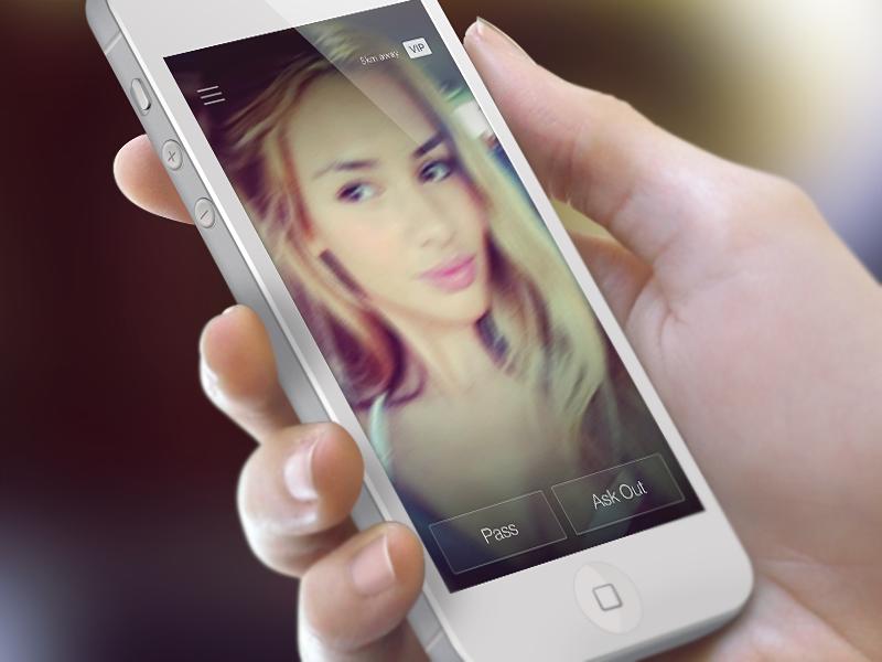 AskOut Video Profile minimal transparent app ui iphone ios dating heart love profile video ux