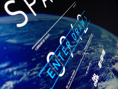 Win a trip to space! space ui ux canvas animation parallax tech earth html5 css3 din