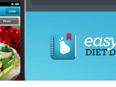 Diet Diary iPhone App Website app icon ios iphone ui food