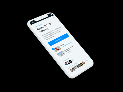 Video Training App clean white mobile iphone interface ux ui card overview minimal friendly blue avatars video course app training