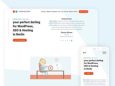 Website design simple design mobile ux ui clean website