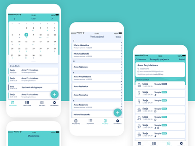 DobryGabinet Mobile App clean mobile ui ux calendar mobile app design mobile app