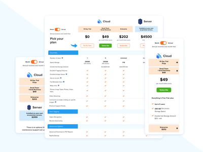 Price Table clean web design price table