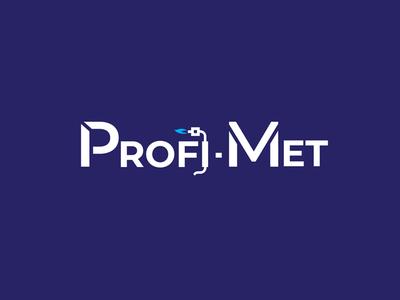 Profi Met - welding services brand weld clean vector web logo branding design