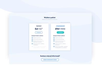Zapiszsesje - price list web ui webdesig clean ux design