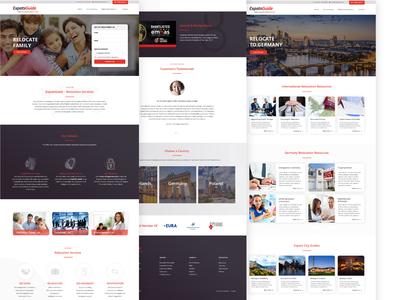 Relocation agency website simple typography ui ux website webdesig web clean branding design