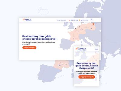 International transport clean ui clean webdesig web design transport