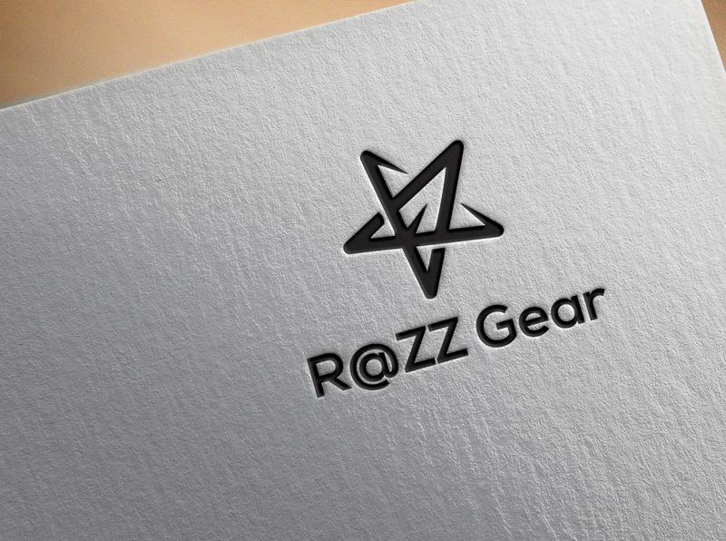 Razz Gear minimal art vector icon typography design logo identity flat branding