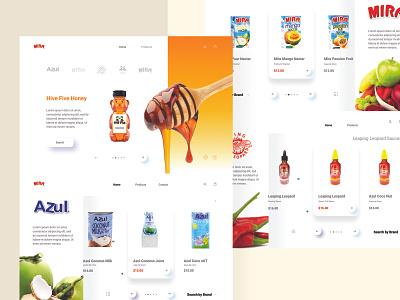 Product Shop Shot food clean design layout ui