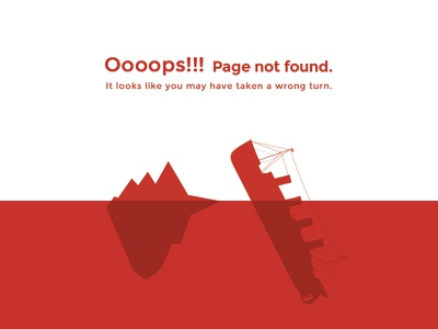 404 big data error not found boat iceberg