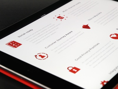 Solutions page - Tablet preview big data icons tablet ipad