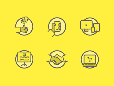 Flat Icons Yellow Theme tablet computer ecommerce apple social bird iphone phone set icons flat minimal