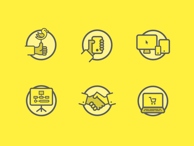 Flat Icons Yellow Theme tablet computer ecommerce apple social bird iphone phone set icons flat minimal