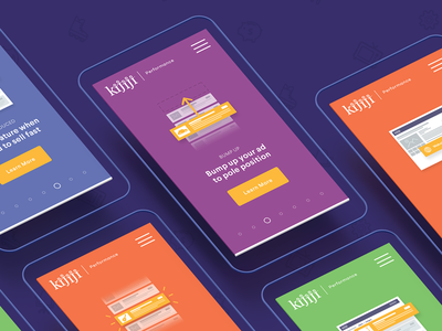 Kijiji Performance - Mobile Presentation showcase portfolio client case study ui slider interface responsive design brand mobile
