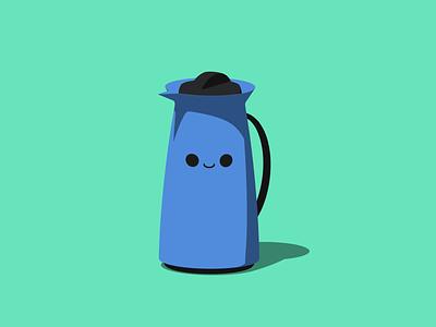 Bob, the Bottle clean cell shading flat blender3d blender illustration design