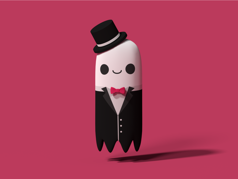 Spoopy, the Dapper Ghost illustrator suit ghost blender3d