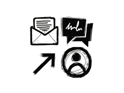 Sketchy Icons link chat bubbles chat bubble chat text about email icon style web design sketch icons