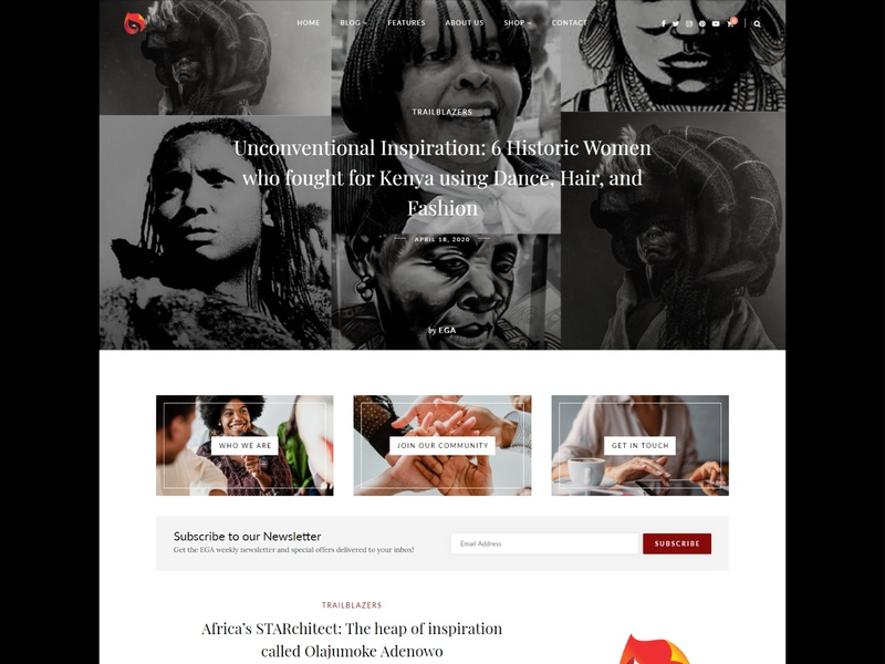 Every Girl Africa sitka elementor design development website design website ui