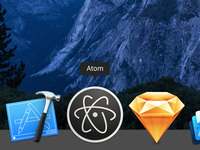 High-contrast Atom Icon for OS X