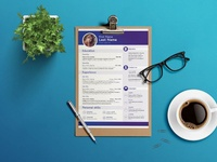 Free Four Pages CV Template