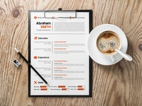 Free Minimalist Creative CV/Resume Template