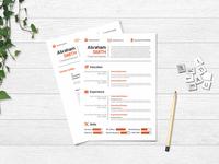 Free Minimalist Creative Resume Template